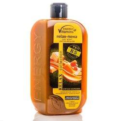 Pianka do Kąpieli Nawilżająca Energy of Vitamins Czarna Czekolada & Karmel Mleczny, 500 ml