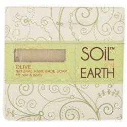 Naturalne Oliwkowe Mydło do Ciała i Włosów, Soil & Earth, 125g