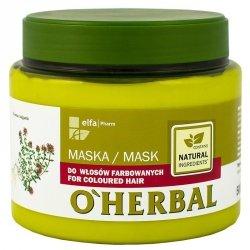 O'Herbal Maska do Włosów Farbowanych z Ekstraktem z Tymianku, 500 ml