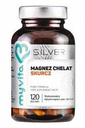 Magnez Skurcz, Chelat + Cytrynian Potasu + B6 P-5-P, MyVita SILVER PURE, Kapsułki