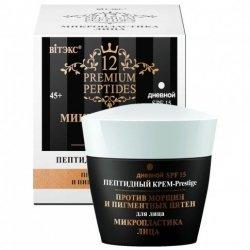 Peptydowy Przeciwzmarszczkowy Krem-Prestige na Dzień SPF15, Premium Peptides