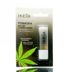 Pomadka do Ust Ochronna z Olejem Konopnym, 3,8 g India Cosmetics
