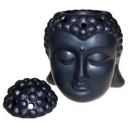 Głowa Buddy Kominek Zapachowy Ceramiczny, Czarny