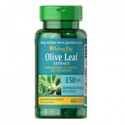 Ekstrakt z Liści Oliwnych, Olive Leaf Standardized Extract 150 mg / 60 kaps., Puritan's Pride