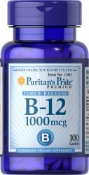 Witamina B12 1000 mcg Powolne Uwalnianie, Puritan's Pride, 100 tabletek