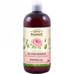 Гель для душа Мускусная Роза и Зеленый Чай, Зеленая Аптека