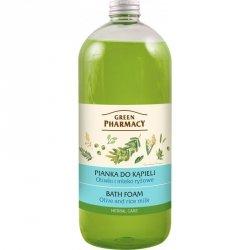Пена для ванн Оливки и рисовое молоко, Зеленая аптека