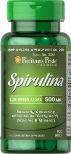 Spirulina, Puritan's Pride 500 mg