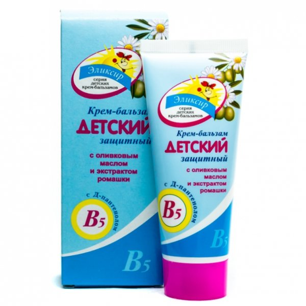 Protective Baby Cream-balm with Olive Oil and Camomile Extract