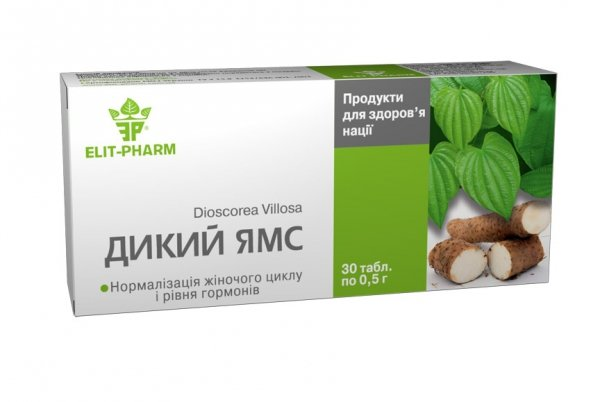 Wild Yams, 30 Tablets
