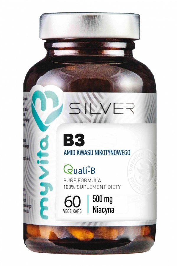 Witamina B3 500 mg (Amid) SILVER PURE 100%, Myvita