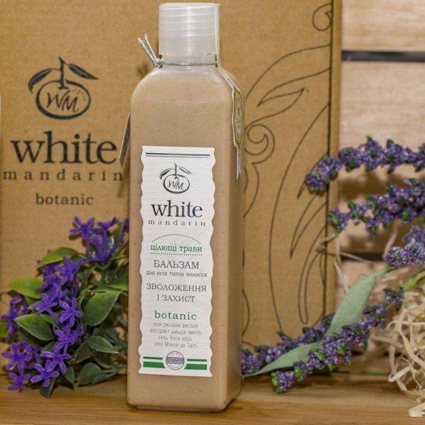Organiczny Balsam do Włosów Nawilżająco-Ochronny Ziołowy, White Mandarin