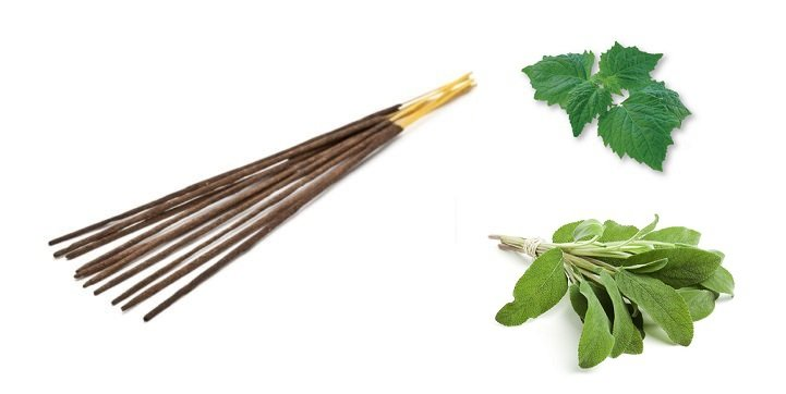 Incense Stick Sage & Patchouli, 8 pcs in pack