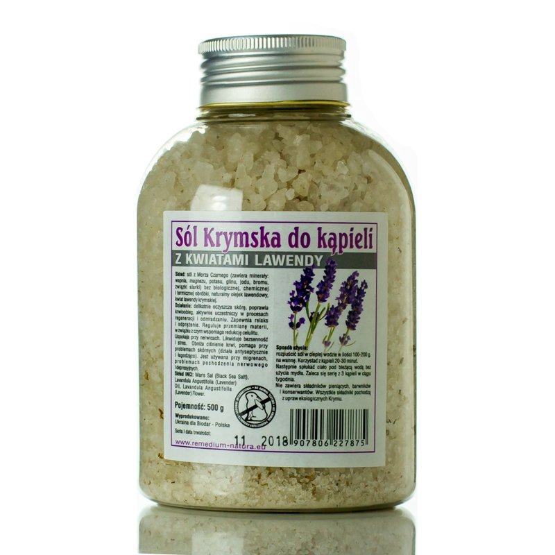Black Sea Salt, Lavender Bath Salt , 500 g