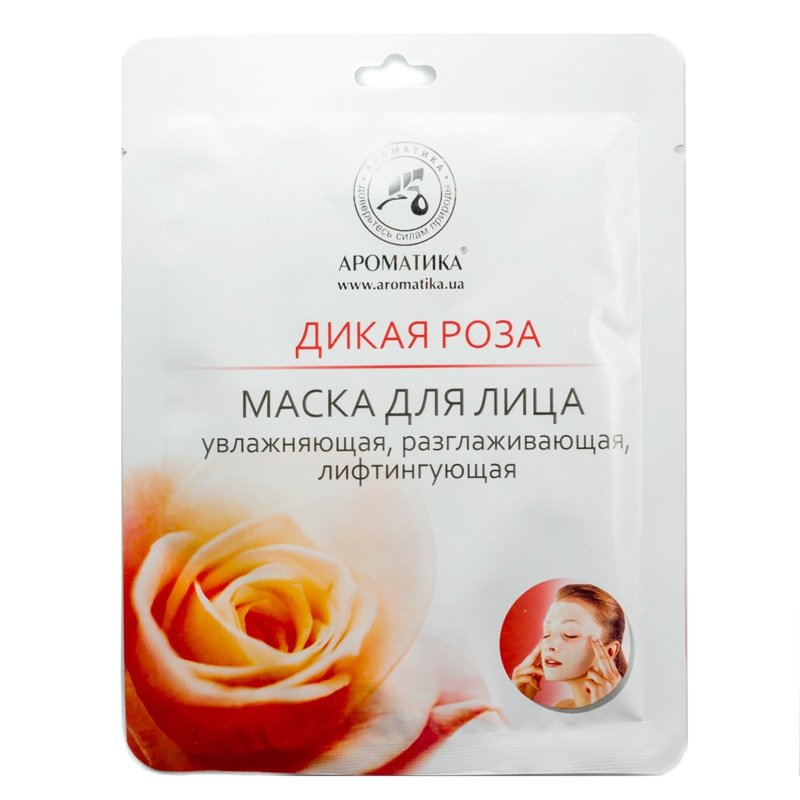 Wild Rose Face Bio-cellulose Mask, 35 g Aromatika