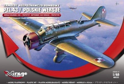Mirage 481313 1/48 PZL.43 'Polskie Wersje Wojenne 1939 + Prototyp' [Samolot Rozpoznawczo-Bombowy]