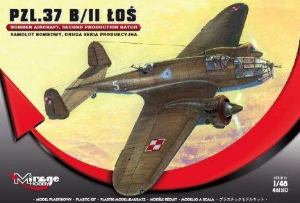 Mirage 481310 1/48 PZL.37 B/II ŁOŚ Samolot Bombowy, DRUGA SERIA Produkcyjna