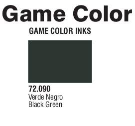 Game Color (72090) Game Ink | Inky Black Green 17 ml.