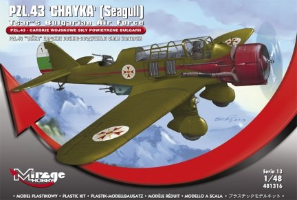 Mirage 481316 1/48 PZL.43 Cesarskie Wojskowe Siły Powietrzne Bułgarii