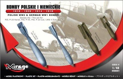 Mirage 448001 1/48 Bomby Polskie i Niemieckie 1918-1939 / 1914-1918