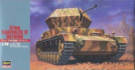 Hasegawa MT47 1/72 37mm FLAK Panzer IV 'Ostwind' (German Army Anti-Aircraft Vehicle)