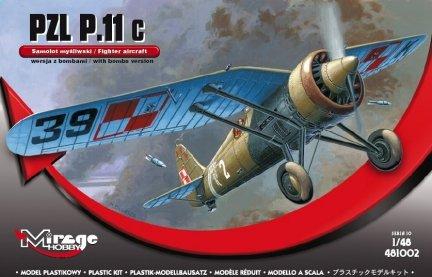 Mirage 481002 1/48 PZL P.11c wersja z bombami