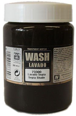 Vallejo 73300 | Wash: Sepia Shade | 200 ml