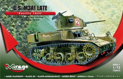 Mirage 726075 1/72 M3A1 Light Tank 'Pacific 1943' late ver.