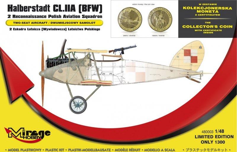 Mirage 480003 1/48 Halberstadt CL.IIA [BFW] '2 Eskadra Lotnicza Lotnictwa POLSKIEGO' (z NUMIZMATEM)