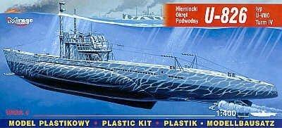 Mirage 40413 1/400 U-826 typ U-VII Turm IV niemiecki okręt podwodny