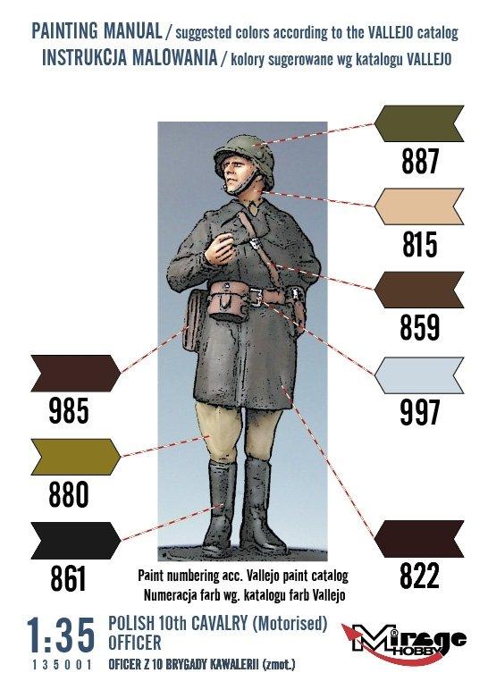 Mirage 135001 1:35 Oficer z 10 Brygady Kawalerii (Rok 1939) [Resin Kit]
