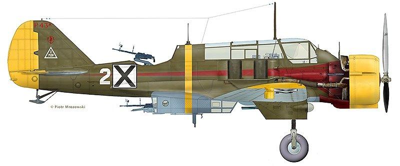 Mirage 481404 1:48 PZL.43 A Wojskowe Siły Powietrzne Bułgarii 1941-1944