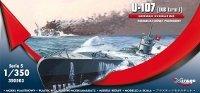 Mirage 350503 1/350 U-107 (IXB turm I) Niemiecki Okręt Podwodny