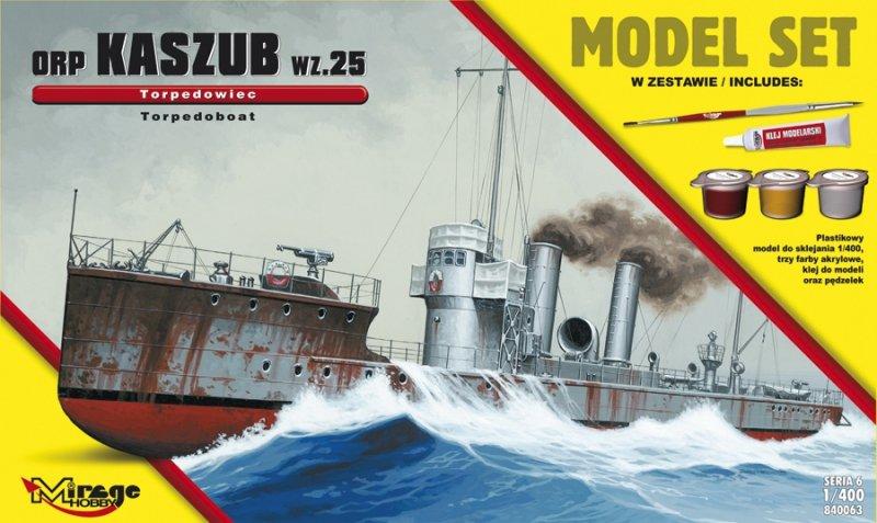 Mirage 840063 1/400 [MODEL SET]  ORP 'KASZUB' 1935 (Polski Okręt Torpedowy)