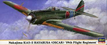 Hasegawa 00192 1/72 KI43-II Hayabusa 'Oscar' 59th Fight Regiment