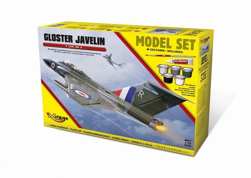 Mirage 872093 1/72 [MODEL SET] GLOSTER JAVELIN F (AW) Mk 9 [Brytyjski Poddźwiękowy Samolot Przechwytujący]