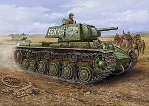 Hobby Boss MC84811 1/48 Russian KV-1 Ehkranami tank