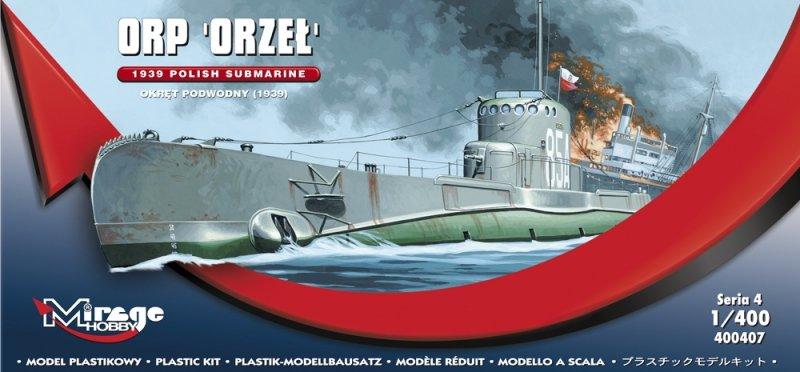 Mirage 400407 1/400 ORP Orzeł Polsk Okręt Podwodny