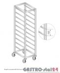 Regał na pojemniki lub tace na kółkach DM 3322/K  szerokość: 660 mm, wysokość: 1800 mm  (600x660x1800)
