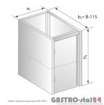 Moduł z drzwiami zawiasowymi DM 3108.1  szerokość: 585 mm  (400x585x650)