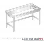 Stół do obróbki produktów DM 3237 szerokość: 700 mm (1200x700x850)