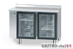 Stół chłodniczy z drzwiami przeszklonymi bez agregatu z płyta wierzchnią nierdzewną DM 90005 1125x600x850