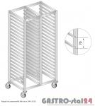 Regał na pojemniki lub na tace na kółkach DM 3323/K  szerokość: 550 mm, wysokość: 1800 mm  (770x550x1800)