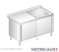 Stół ze zlewem i szafką DM 3211 szerokość: 600 mm (800x600x850)