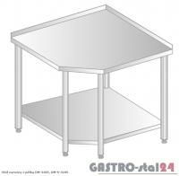 Stół narożny z półką DM 3105 szerokość: 600 mm (600x600x850)