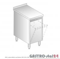 Stół z pojemnikiem wychylnym DM 3141 400x600x850
