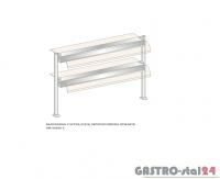 Nadstawka z szybą giętą dwupoziomowa z grzaniem i oświetleniem DM-94590 G-E wym. 1573x410x770
