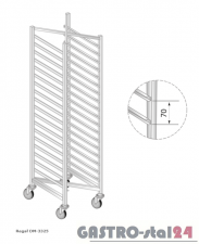 Regał DM 3325 szerokość: 550 mm, wysokość: 1600 mm (400x550x1600)