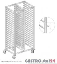 Regał na pojemniki lub na tace na kółkach DM 3323/K  szerokość: 660 mm, wysokość: 1600 mm (1170x660x1600)