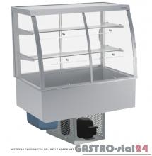 Witryna chłodnicza po łuku z klapkami DM-94950.2K wym. 770x714x1429mm